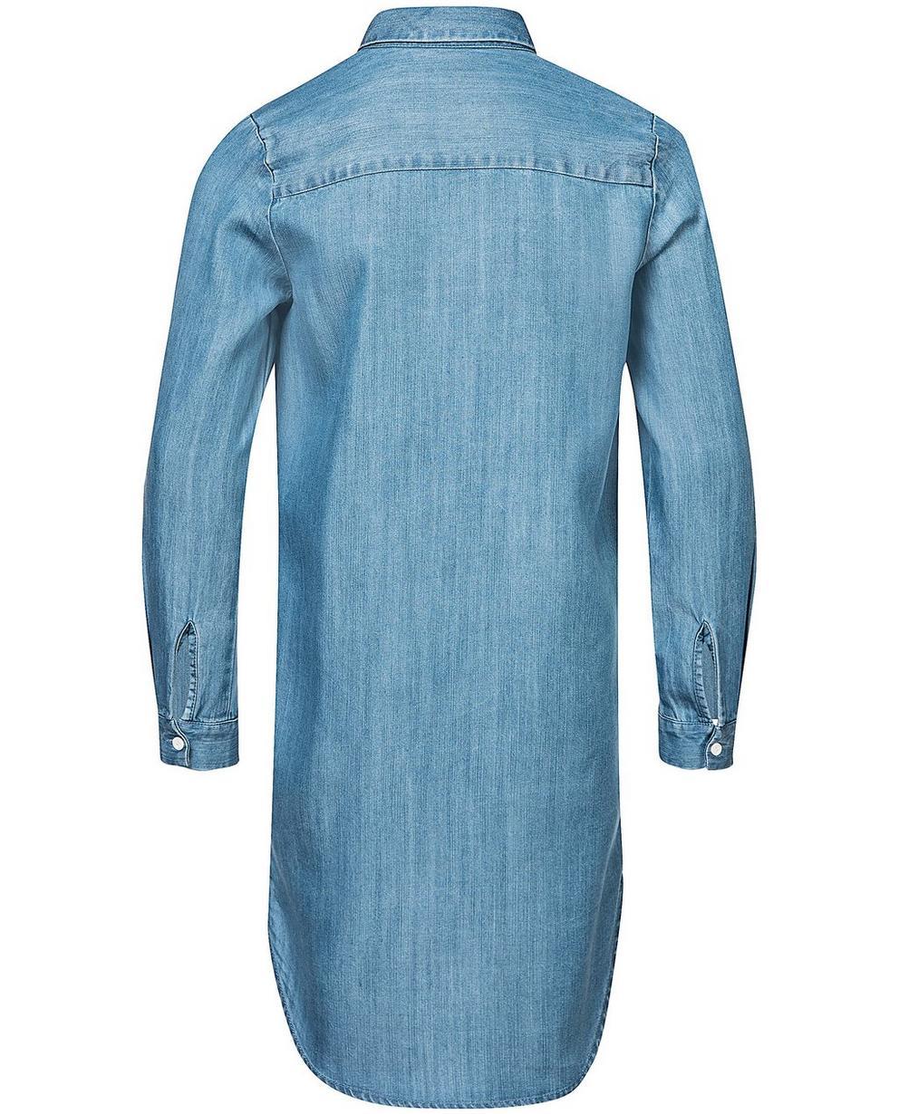 Kleider - Aqua - Lyocell-Hemdkleid mit Denim-Look